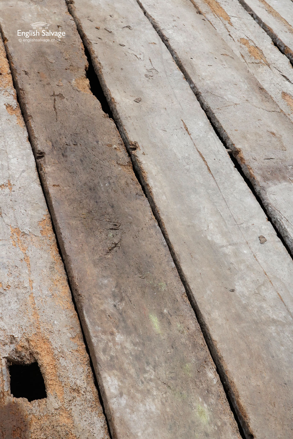 Antique Reclaimed Thick Elm Boards Planks