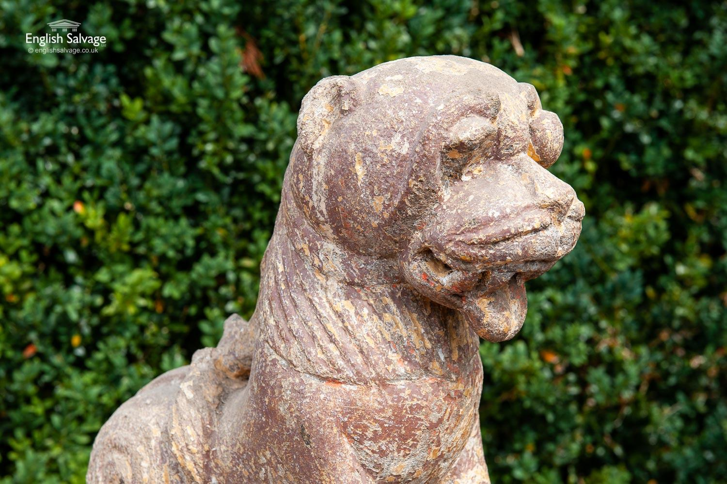 Ancient Stone Lion From A Temple In India