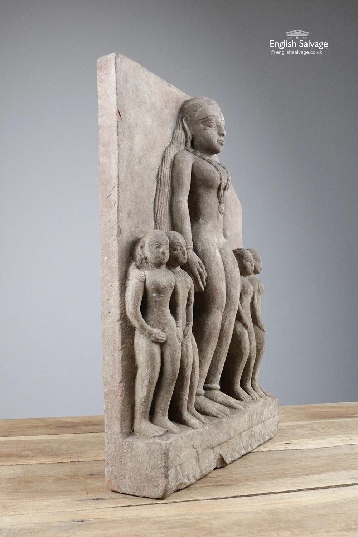 Antique C18th Temple Sculpture Fragment
