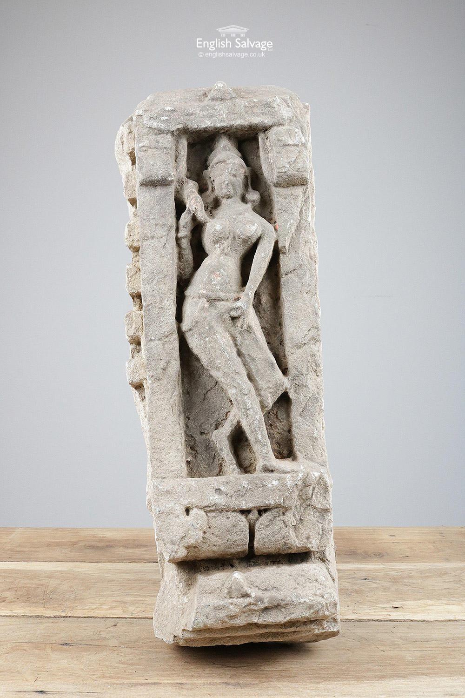 Antique Carved Sandstone Hindu Goddess
