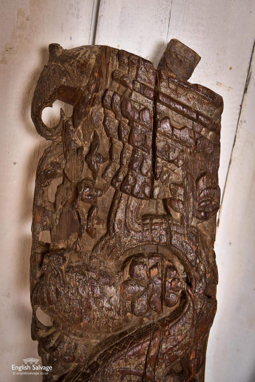 Antique Carved Teak Brackets Corbels