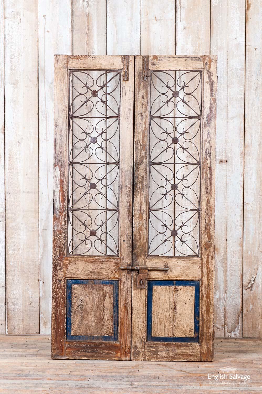 Antique Decorative Scrollwork Jali Doors