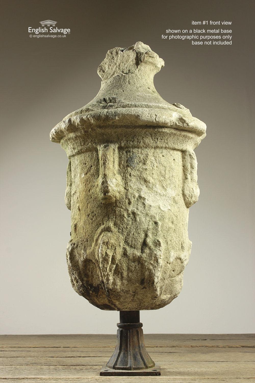 Antique Ex Holkham Estate Urn Stone Finials