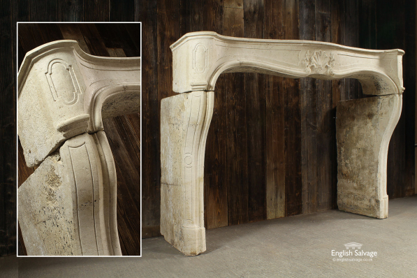 Antique French Limestone Fire Surround