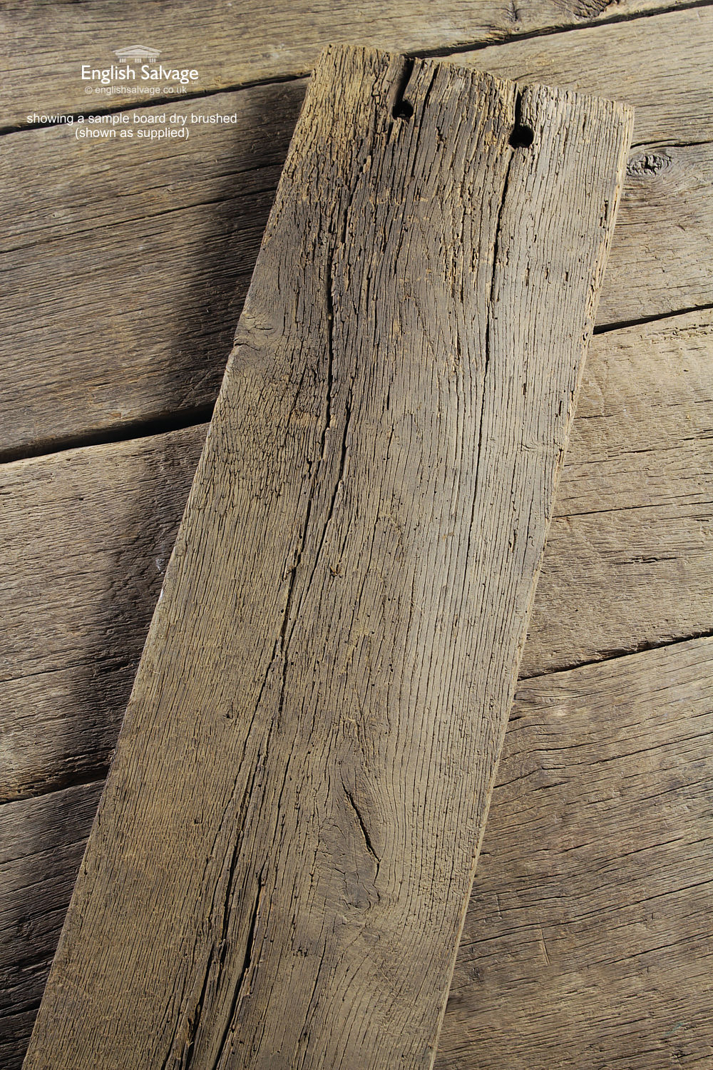 Antique French Oak Pitsawn Wood Floorboards