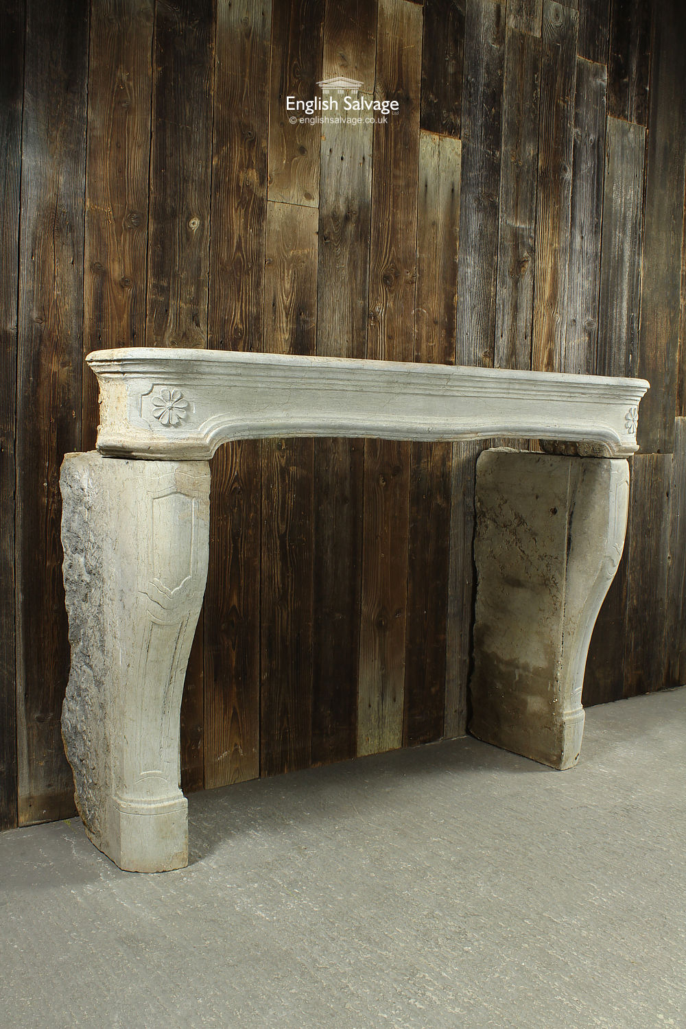 Antique French Stone Fireplace Surround
