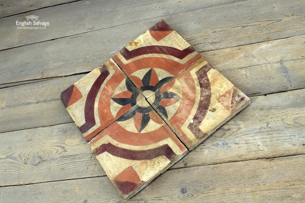 Antique Geometric Star Patterned Cement Tiles