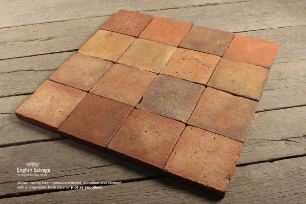 Antique Handmade Quarry Tiles 20cm 18188 Pic1 Size1