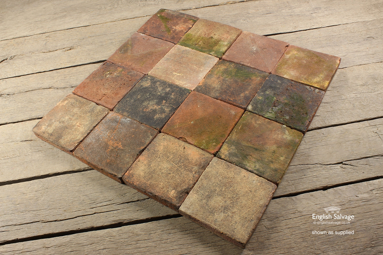Antique Handmade Quarry Tiles 20cm