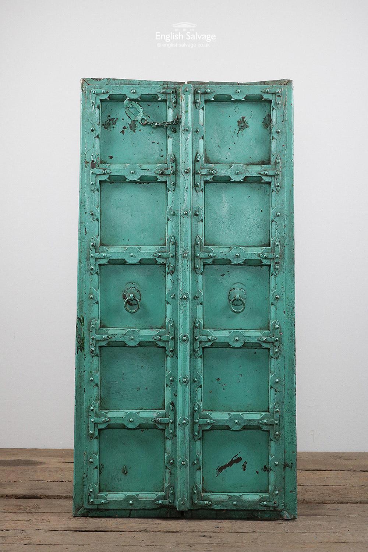Antique Hardwood Indian Double Doors