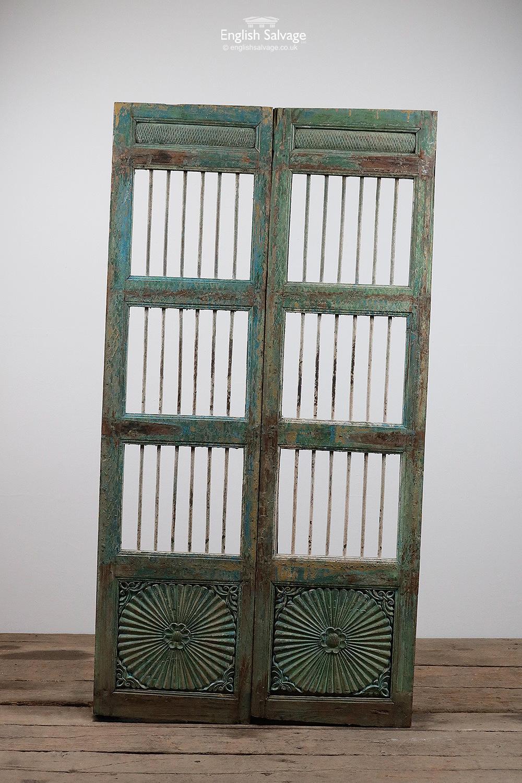 Antique Indian Jali Teak Double Door