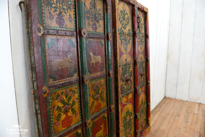 Antique Painted Teak Doors Shutters