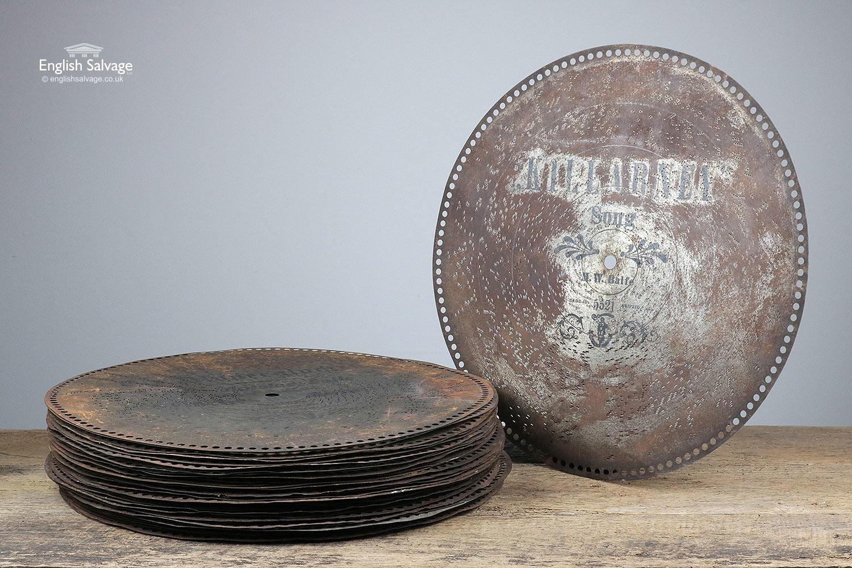 Antique Regina Music Box Discs