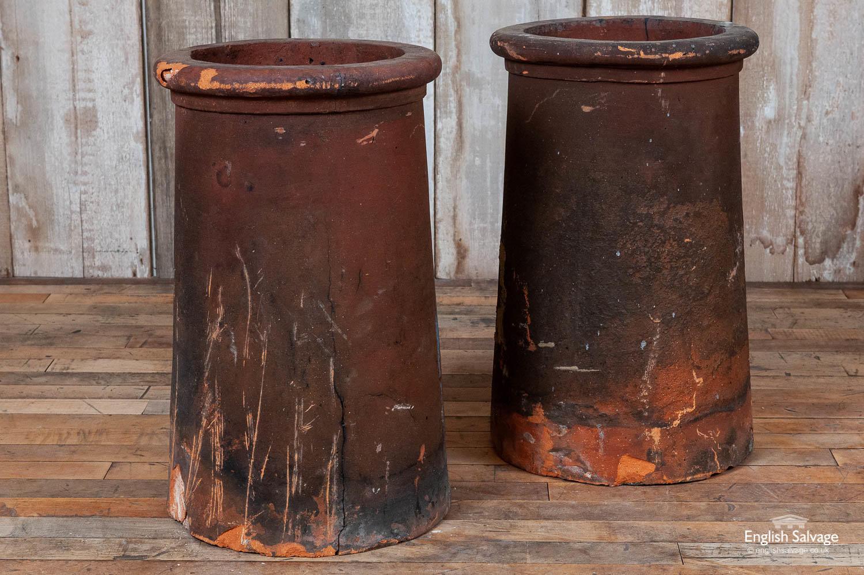 Antique Roll Top Taper Chimney Pots