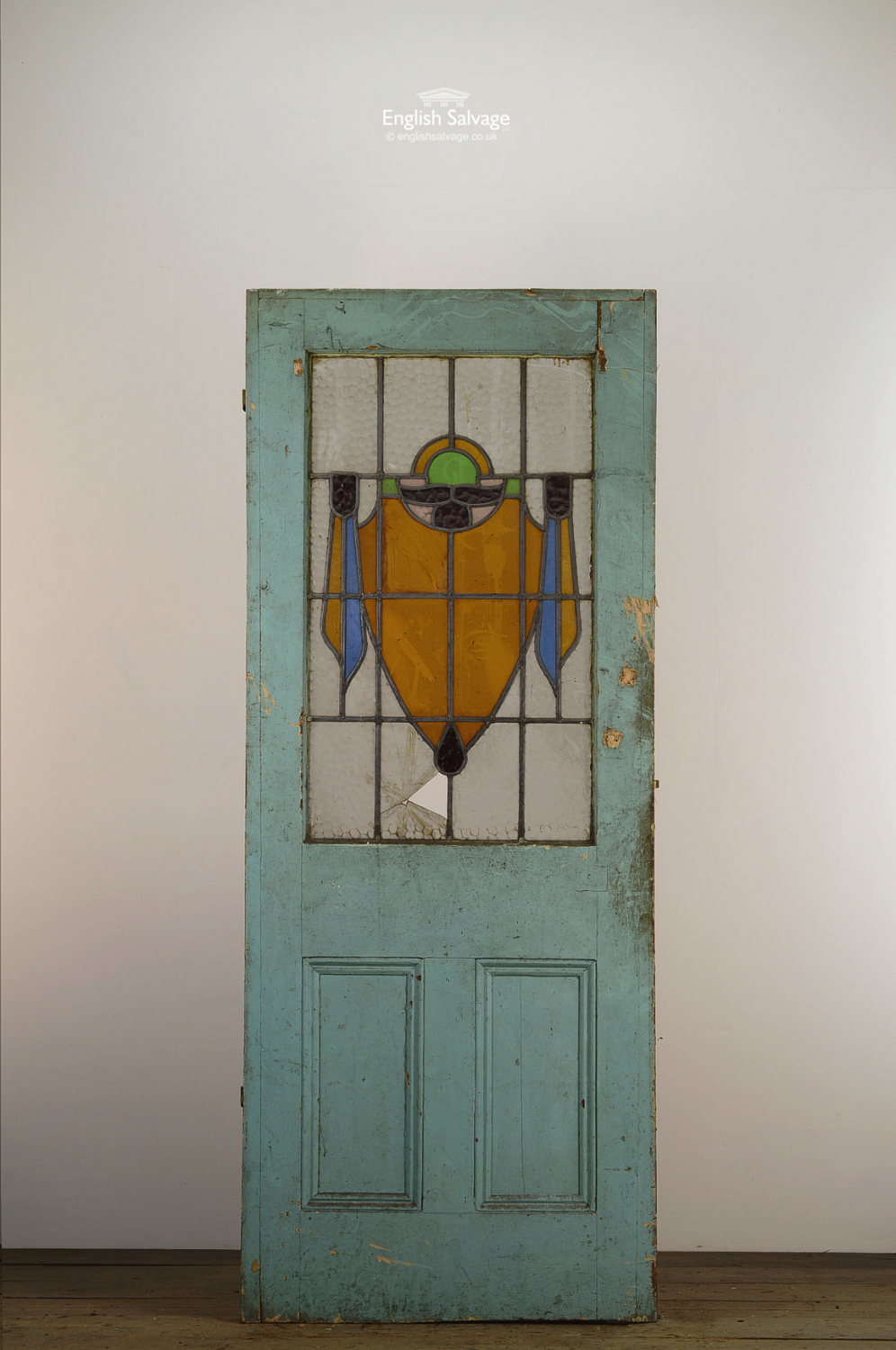 Antique Stained Glass Front Door
