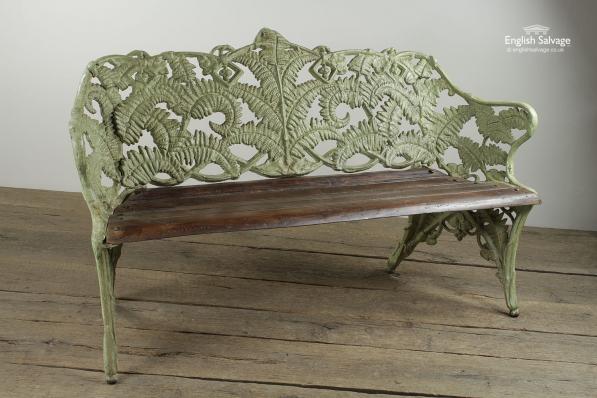Attractive Cast Iron Fern Leaf Garden Bench