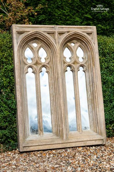 Beautiful Gothic style double arched mirror