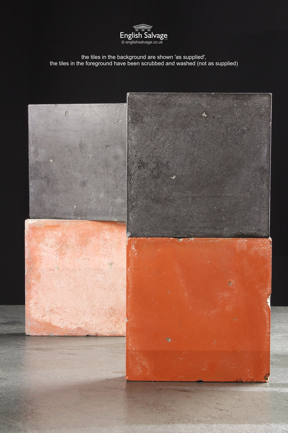 Black And Red Quarry Tiles