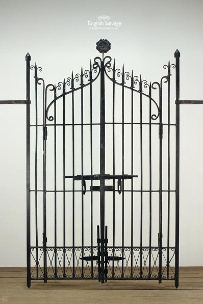 Black Finish Ornate Wrought Iron Gates