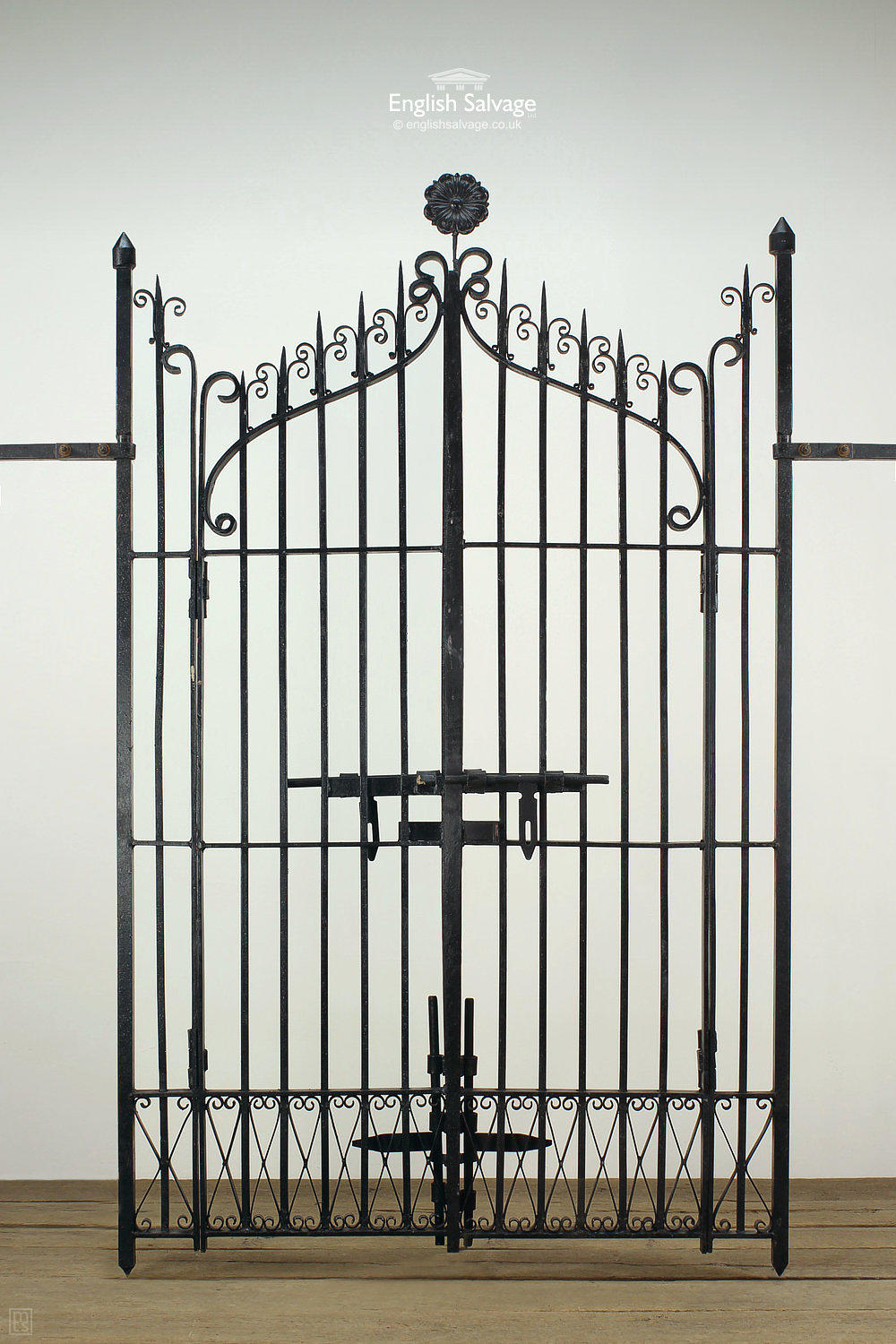 Black Finish Ornate Wrought Iron Gates