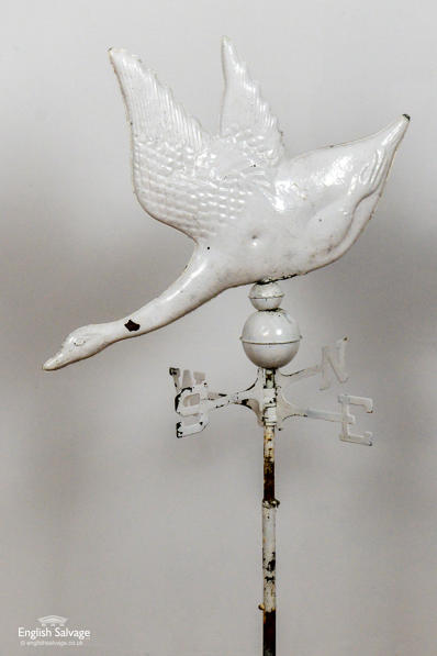 Brass Flying Duck Weathervane
