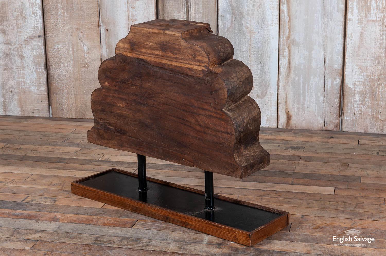 Carved Elephant Teak Sculpture Todla