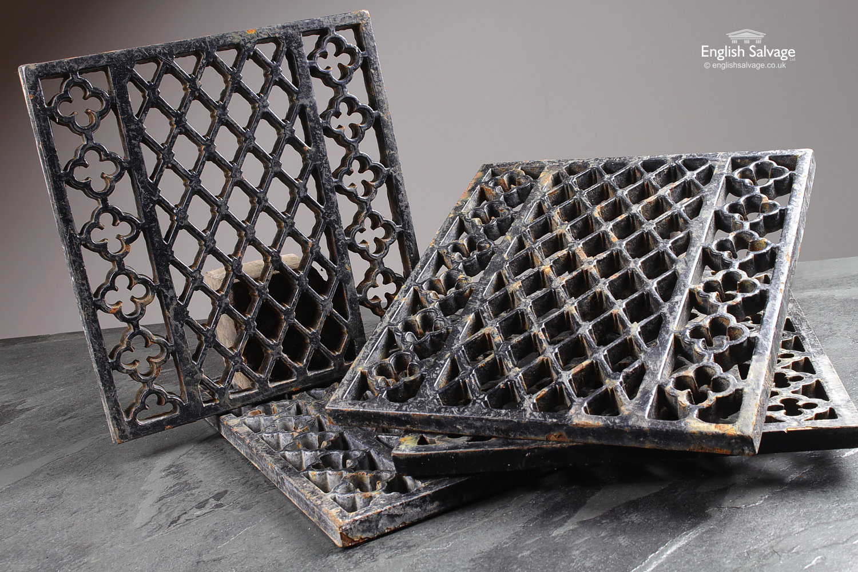 Cast Iron Black Decorative Grilles Air Vents