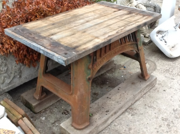 Cast Iron Industrial Table Base With Top