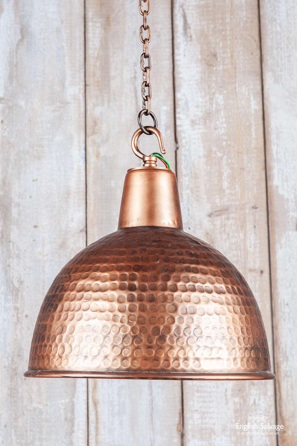 Copper Coloured Textured Ceiling Light