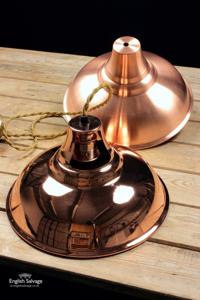 Copper Lamp Shades (Lacquered)