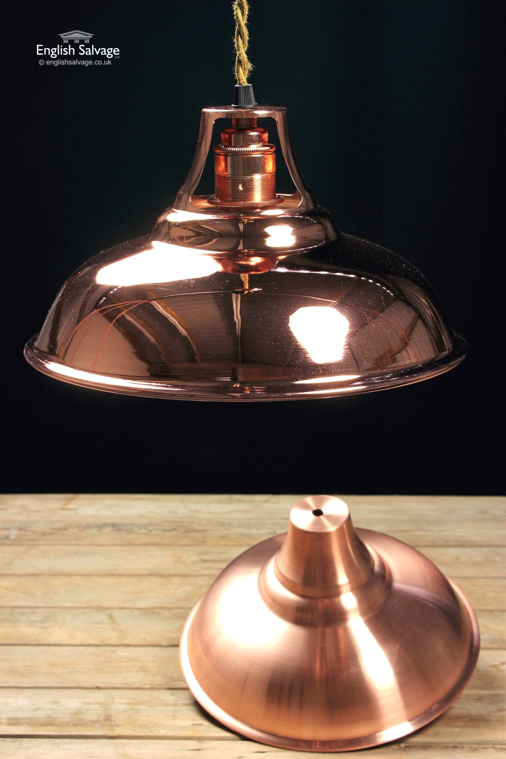 Copper Lamp Shades Lacquered
