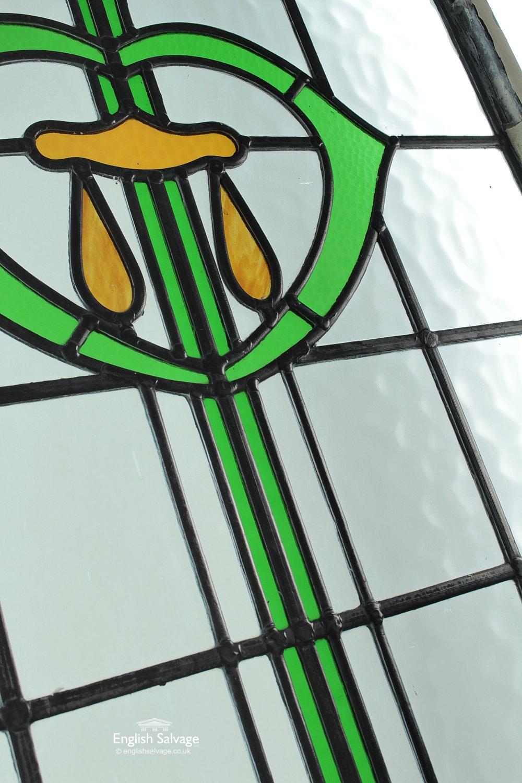 Decorative Art Nouveau Stain Glass Window