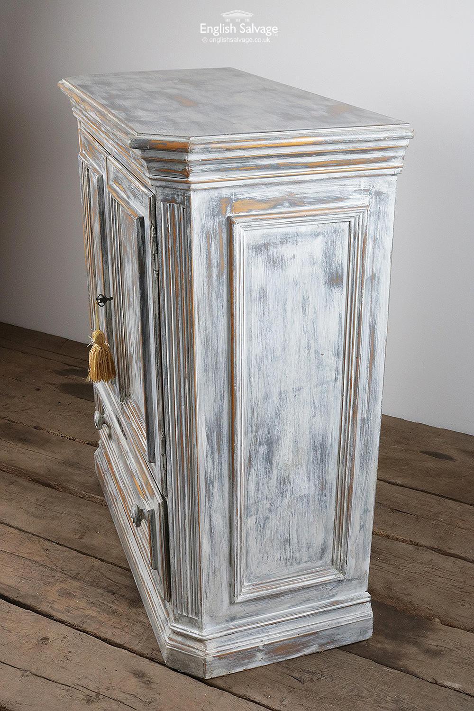 Distressed Vintage Lockable Pine Cabinet