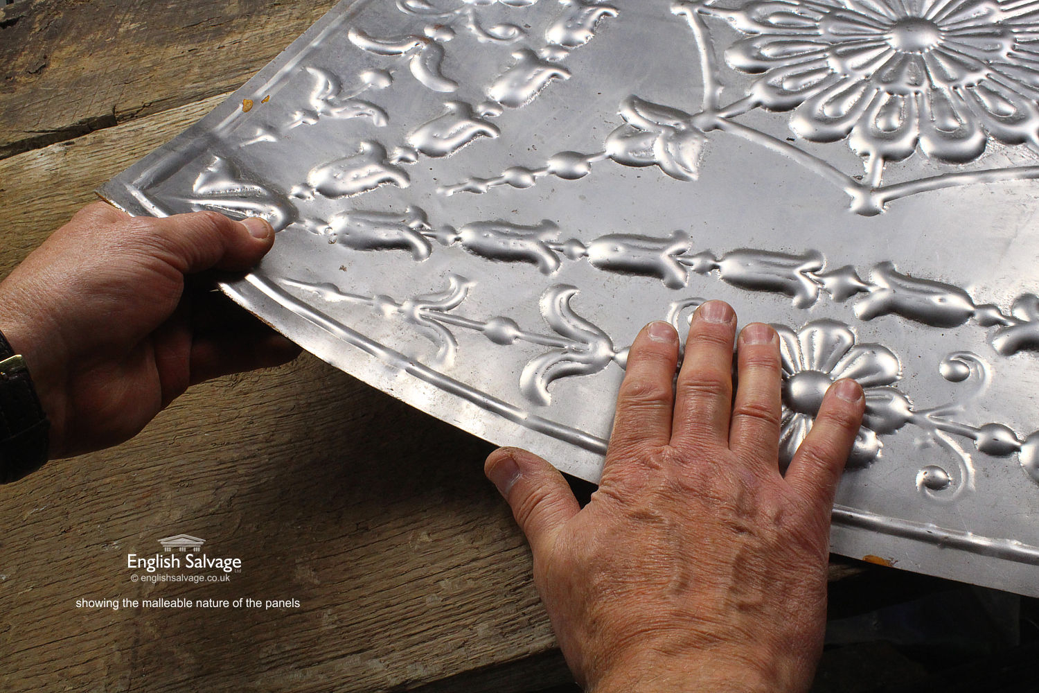 Embossed Tin Patterned Large Ceiling Tiles