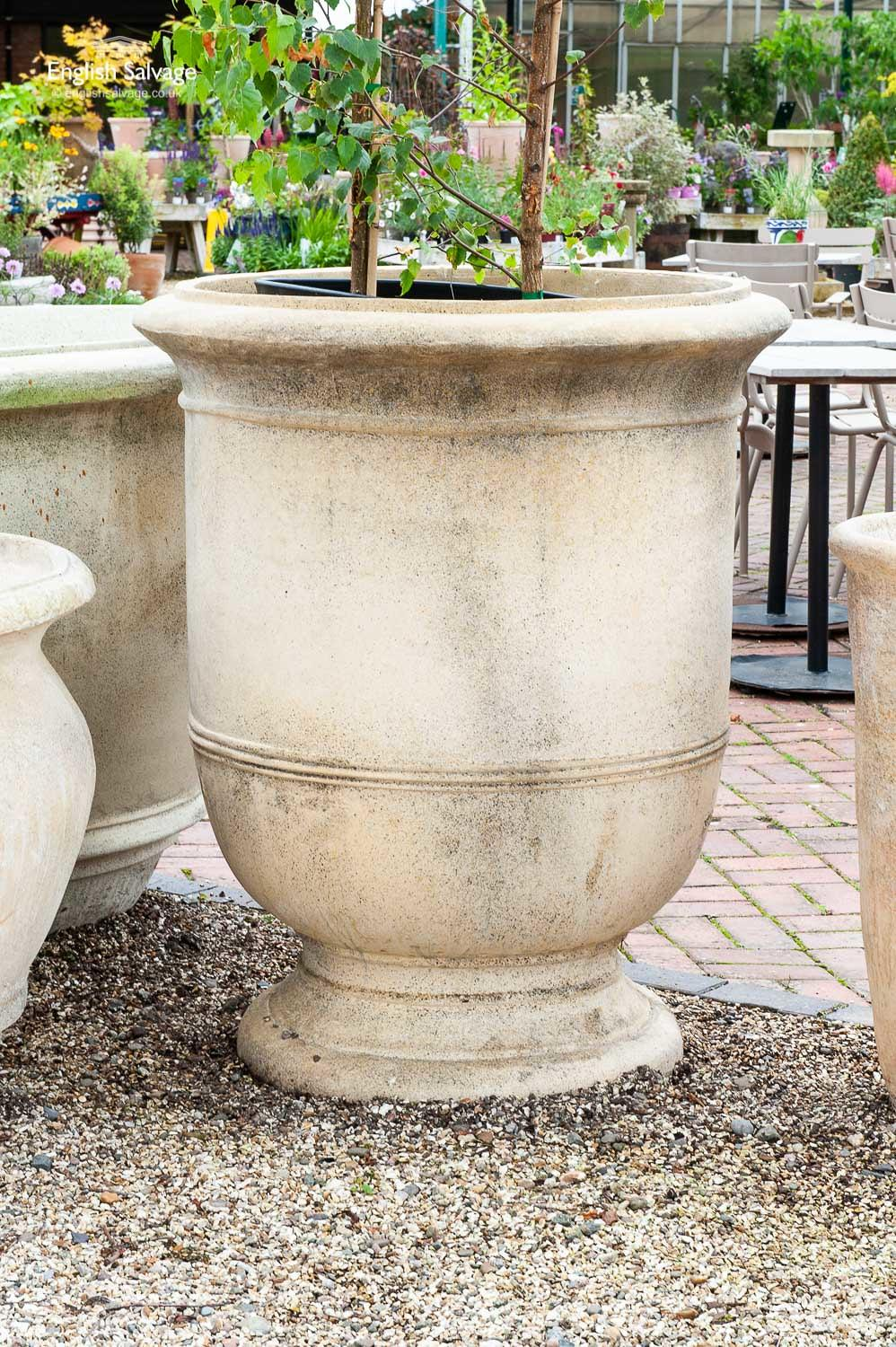 Extra Large Weathered Goblet Shaped Planter