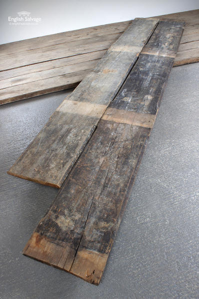 Four Salvaged Thick Pine Ceiling Beams
