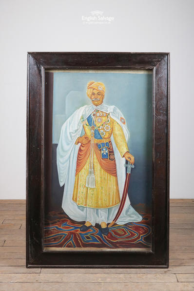 Framed painting of an Indian Maharajah