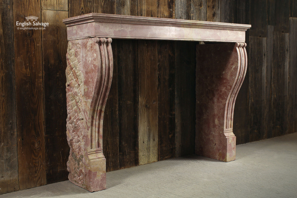 French Burgundy Stone Fire Surround