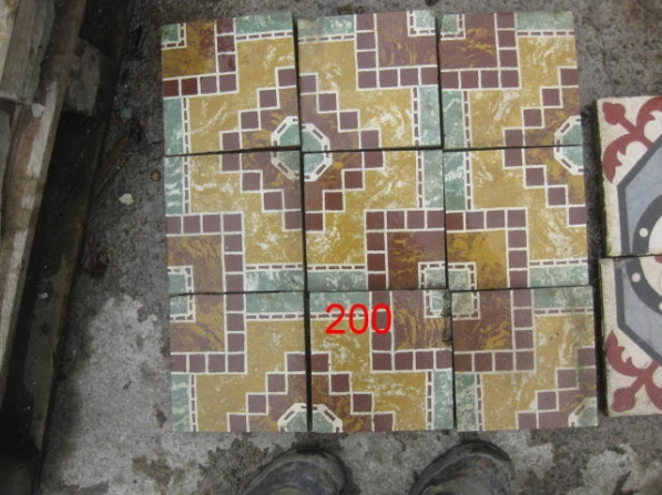 French Decorative Cement Floor Tiles