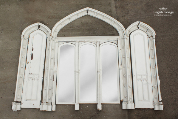 Gothic Wooden Arch Frame with Doors