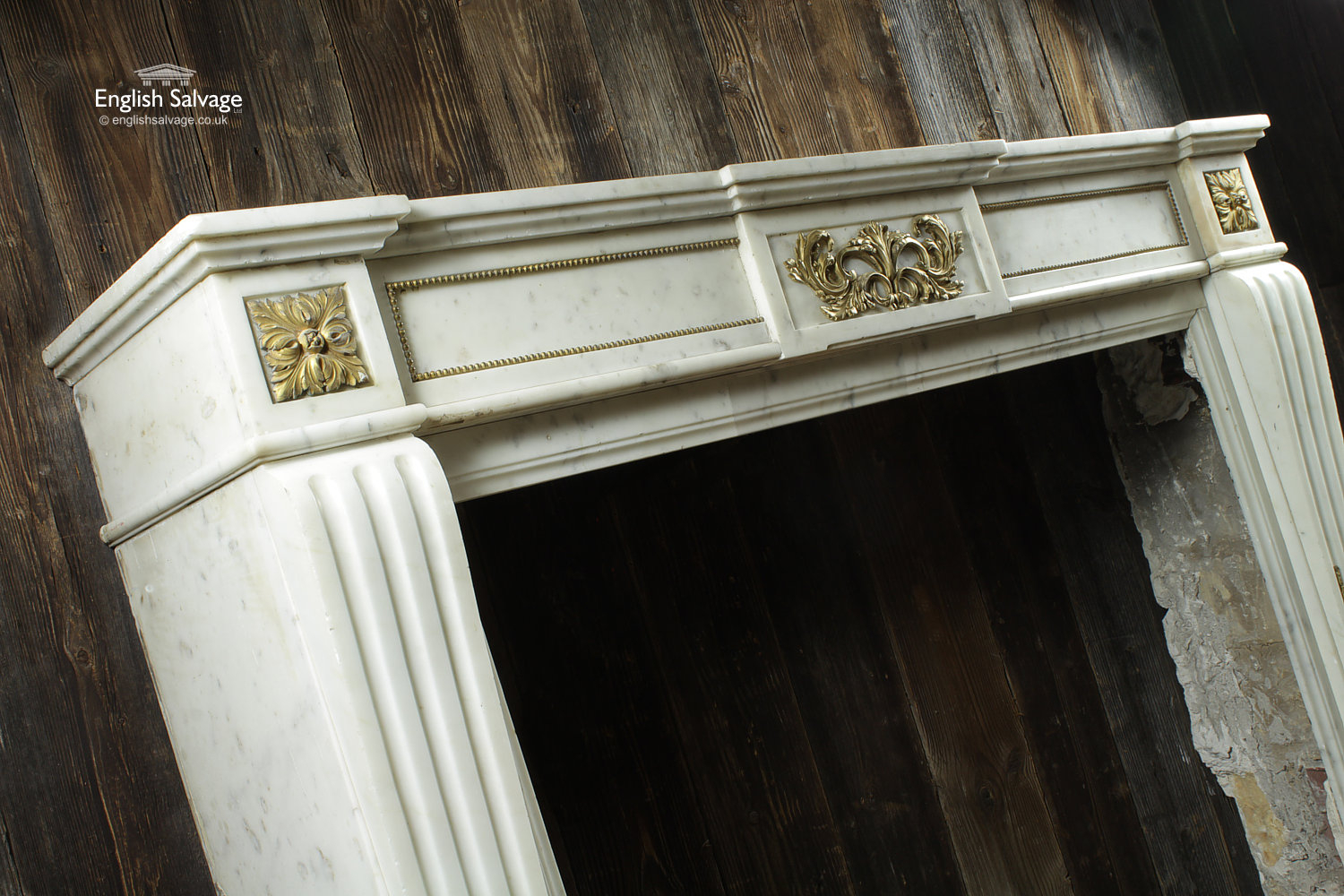 Grand Antique French Marble Fire Surround