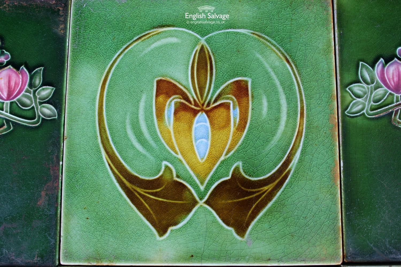 Green Art Nouveau Tiles