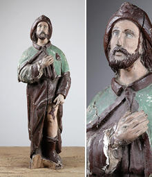 Reclaimed religious statues, from Victorian angels and