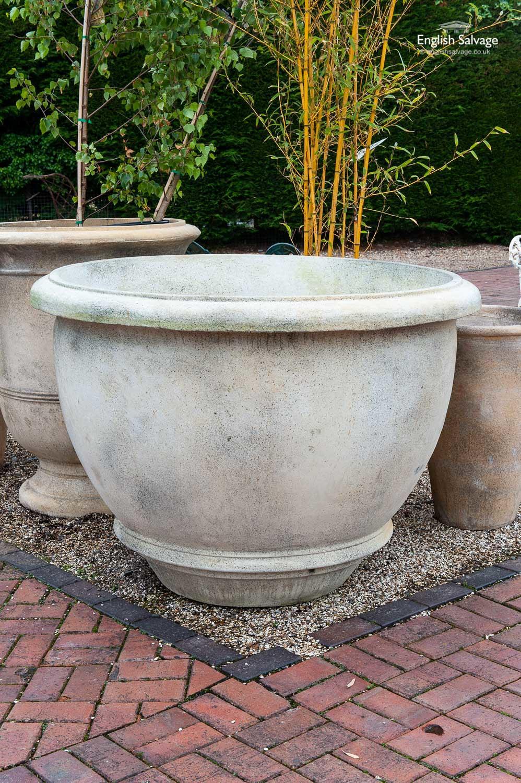 Huge composition stone tree planter pot