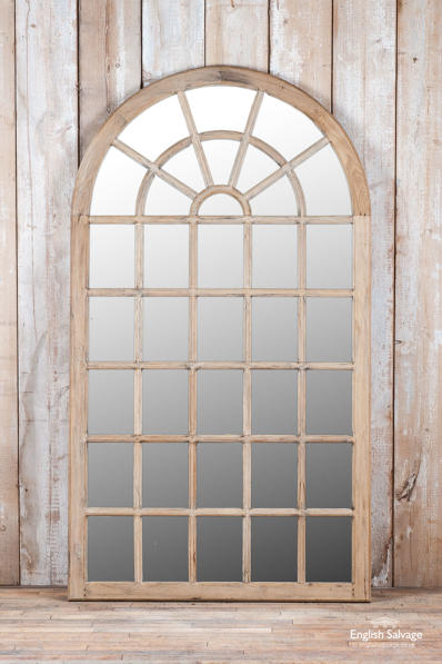Impressive arched hardwood mirror