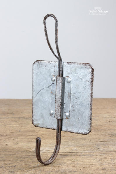 Industrial Distressed Metal Double Coat Hooks