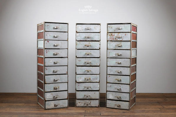 Industrial Metal 10 Drawer Chest Storage Unit