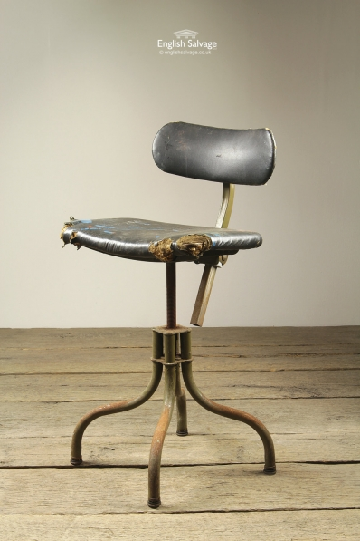 Industrial Old Metal Swivel Factory Chair