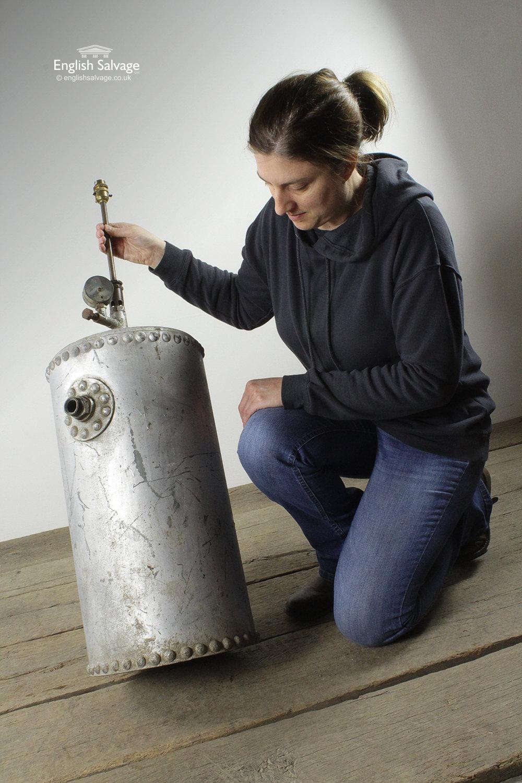 Industrial Repurposed Pressure Vessel Lamp