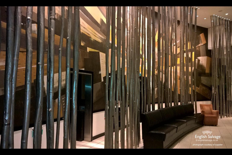 Interior Metal Tree Trunk Shaped Pole Screen
